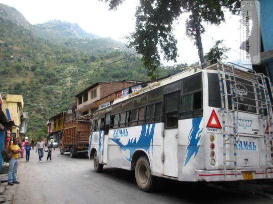 Unser Bus in Chamba, auf dem Weg nach Bhamour