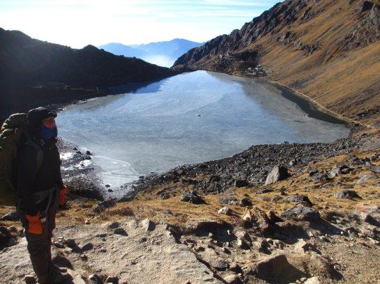 Der heilige Gosainkund Eissee, Helambu, Nepal