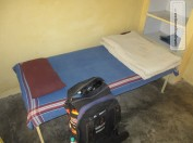 Einfache Unterkunft. Markus hatte den Luxus eines Einzelzimmers...
