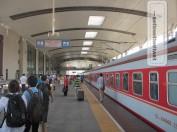 Ankunft am Bahnhof in Wuhan