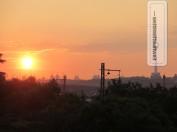Sonnenuntergang über Wuhan City