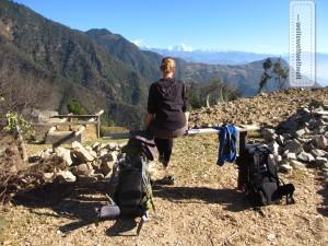 Blick nach vorn in Richtung Zukunft (hier auf dem Helambu Trek / Nepal)