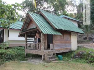 Unsere Hütte am Strand von Ko Chang / Thailand