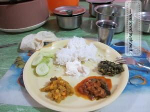 Gute Hausmannskost gabs's in Südindien bei RIDE