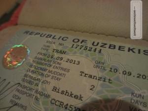 Das hart erarbeitete Transit-Visum für Usbekistan