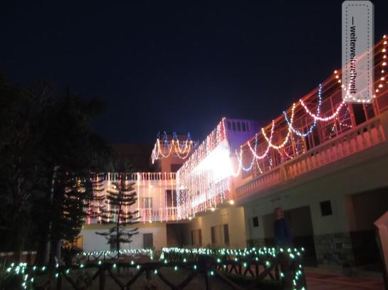 Unser Hotel im Diwali Lichterglanz