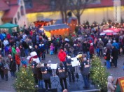 No Christmas market without music, here at Freital near Dresden