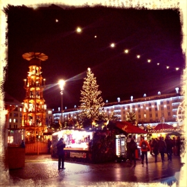 The entrance to the Dresdner Striezlmarket - probably the oldest annual Christmas fair in Germany