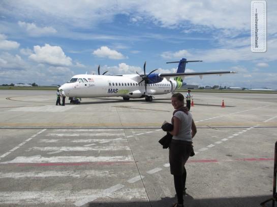 Abflug in Kuching (Malaysia) mit MASwings