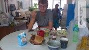 Frühstück im Taipei Hostel