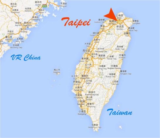 Taiwan China Taipei Map